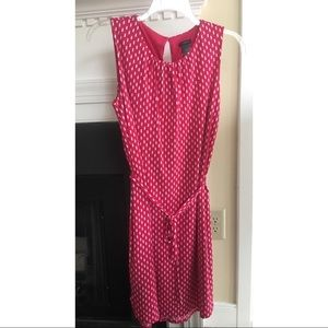 Ann Taylor Pink and White Dress - L.